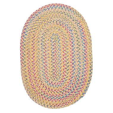 Colonial Mills Botanical Isle Banana Area Rug; Oval 7' x 9'