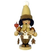Alexander Taron Christian Ulbricht Gingerbread Vendor Incense Burner in Natural Wood