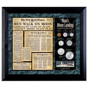 American Coin Treasure New York Times Man Lands on the Moon Coin and Stamp Wall Framed Memorabilia
