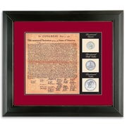 American Coin Treasure Birth of a Nation Declaration of Independence Wall Framed Memorabilia