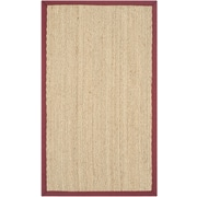 Safavieh Natural Fiber Natural/Light Red Area Rug; 9' x 12'