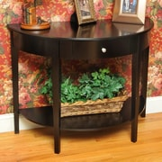 Wildon Home   Bay Shore Large Half Moon Console Table; Black