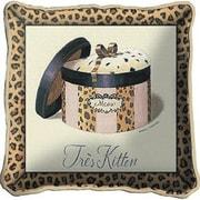 Fine Art Tapestries Tres Kitten Throw Pillow