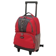 Olympia 18'' Rolling Backpack; Red