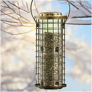 Perky Pet Squirrel Stumper Caged Bird Feeder