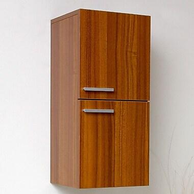 Fresca 12.63'' x 27.5'' Bathroom Linen Side Cabinet; Teak