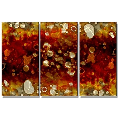All My Walls Brokeh Etch by Christopher Price 3 Piece Graphic Art Plaque Set; Topaz