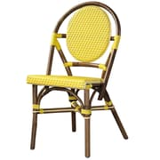 Padmas Plantation Outdoor Cottage Paris Bistro Side Chair (Set of 2); Yellow