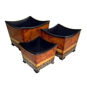 Cheungs 3 Piece Manufactured Wood Pot Planter Set