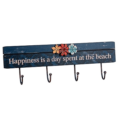 Wilco Home 'Happiness...' 4 Wall Hooks