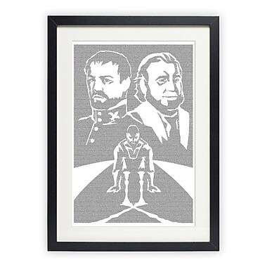 Postertext Les Mis rables - Valjean's Choice Framed Graphic Art