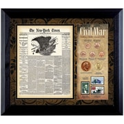 American Coin Treasure New York Times Civil War Coin and Stamp Wall Framed Memorabilia