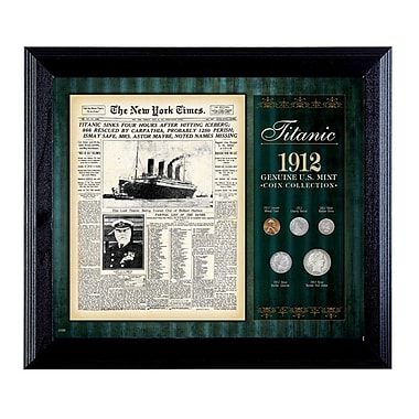American Coin Treasure New York Times Titanic 1912 U.S. Mint Framed Memorabilia