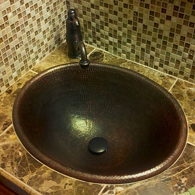 Premier Copper Products Self Rimming Bathroom Sink