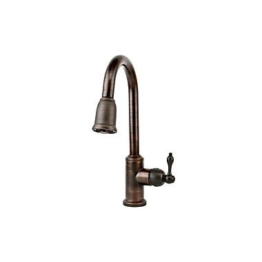 Premier Copper Products Single Handle Kitchen Faucet w/ Pullout Spray