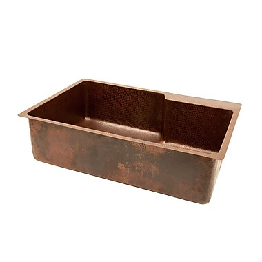 Premier Copper Products 33'' x 22'' Single Basin Kitchen Sink