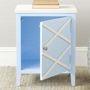 Safavieh Bernardo Side Cabinet; Light Blue / White