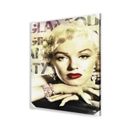 Ace Framing Marilyn Monroe Glamour Memorabilia on Wrapped Canvas