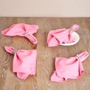 Saro Everyday Design Napkin (Set of 12); Pink