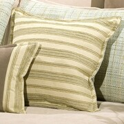 Charister Duncan Square Cushion Cotton/Polyester Throw Pillow; Seafoam