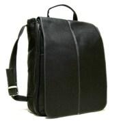 Le Donne Leather Messenger Bag; Black