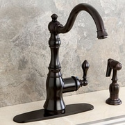 Kingston Brass American Classic Gourmetier Single Handle Kitchen Faucet; Oil Rubbed Bronze