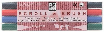 Zig Scroll & Brush Marker (Set of 4) WYF078276305468
