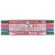 Zig Scroll & Brush Marker (Set of 4)