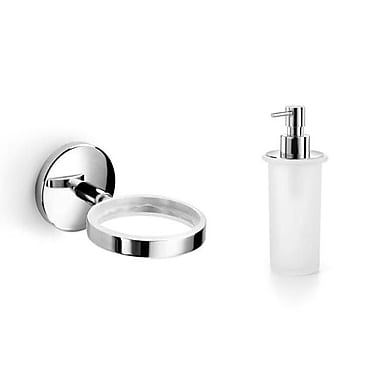 WS Bath Collections Baketo Soap Dispenser; Polished Chrome / Ceramic White