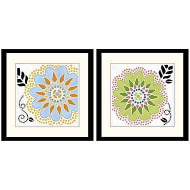PTM Images Cutsey Flower 2 Piece Framed Graphic Art Set
