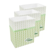 Clean Cubes LLC Picnic Pattern 10 Gallon Recycling Waste Basket (Set of 3)