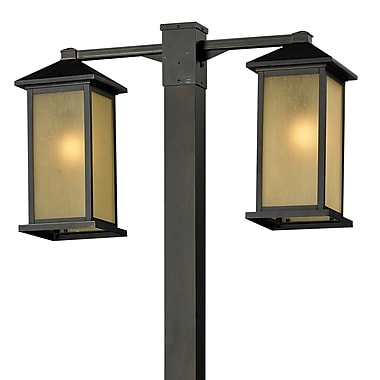 Z-Lite Vienna 2 Light 99'' Post Lantern Set; Oil Rubbed Bronze