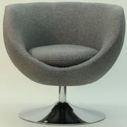 Fox Hill Trading Overman Disc Base Globus Chair; Light Gray