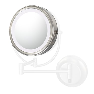 Kimball & Young Kimball & Young Lens 7x w/ Frame Rim Support Mirror; Brushed Nickel