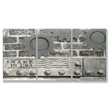 Stupell Industries Industrial USA Triptych 3 Piece Graphic Art Wall Plaque Set