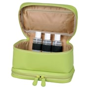 Royce Leather Executive Travel Makeup Cosmetic Toiletry Bag; Key Lime Green