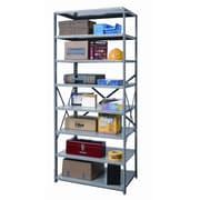 Hallowell Hi-Tech Shelving Duty Open Type 7 Shelf Shelving Unit Starter; 87'' H x 36'' W x 24'' D