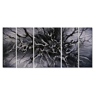 All My Walls 'Synapse' by Michael Lang 5 Piece Graphic Art Plaque Set