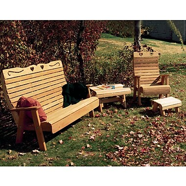 Creekvine Designs Cedar Country Hearts Patio Group; Cedar Stain/Sealer