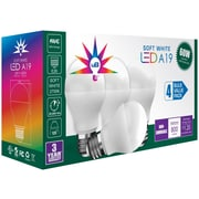 UBRITE UB 8004 A19 60ND 60 Watt Equivalent LED Light Bulb 4 Pack, Soft White