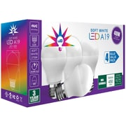 UBRITE UB 8005 A19 40ND 40 Watt Equivalent LED Light Bulb 4 Pack, Soft White