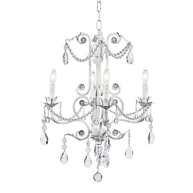 Jubilee Collection Valentino 4 Light Crystal Chandelier; White
