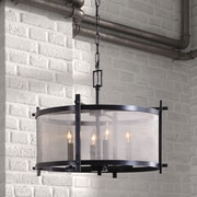 Zuo Era Gabbro 4 Light Drum Pendant