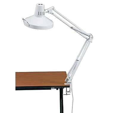 Alvin And Co Swing Arm Combination Table Lamp White