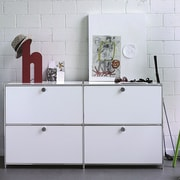 System4 SYSTEM4 Elite 4-Drawer Lateral File; White