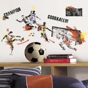 Room Mates 53 Piece Studo Men's Soccer Champion Peel and Stick Wall Decals Set