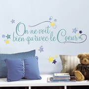Room Mates 4 Piece Deco Le Coeur Peel and Stick Wall Decal Set