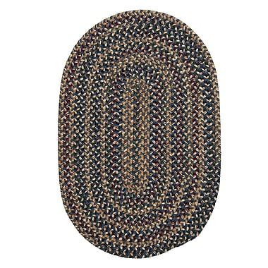 Colonial Mills Twilight Federal Blue Area Rug; Oval 10' x 13'