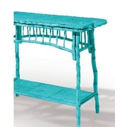 Kenian Coastal Chic Console Table; Antique Turquoise
