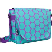 Wildkin Big Dots Aqua Laptop Messenger Bag